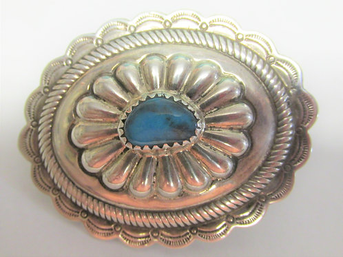 Bisbee Turquoise Ring Concho for Hat by George Ramirez