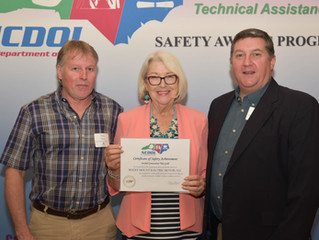 Rocky Mount Electric Motor receives NCDOL Gold Award for Safety for the second straight year.