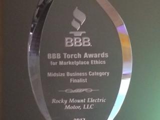RMEM Named Finalist for Torch Award
