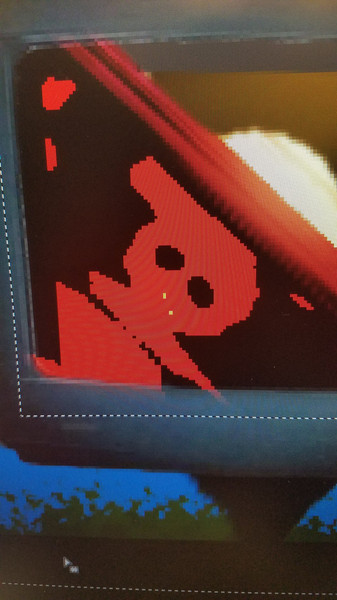 A spooky graphical glitch I encountered in my work (I undid it after taking this picture)