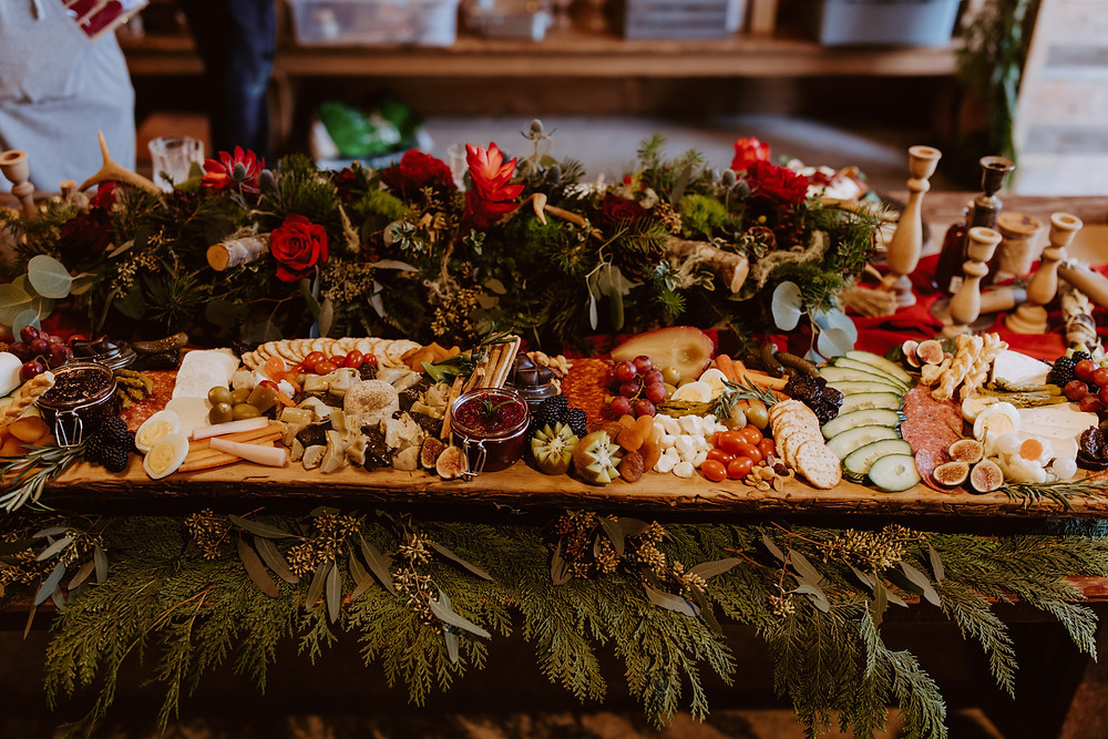 charcuterie catering archer farms north bend coos bay Oregon rustic barn wedding