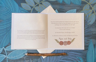 Inside of Folded Invitation