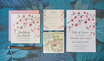 Cherry Blossom Invitation Set