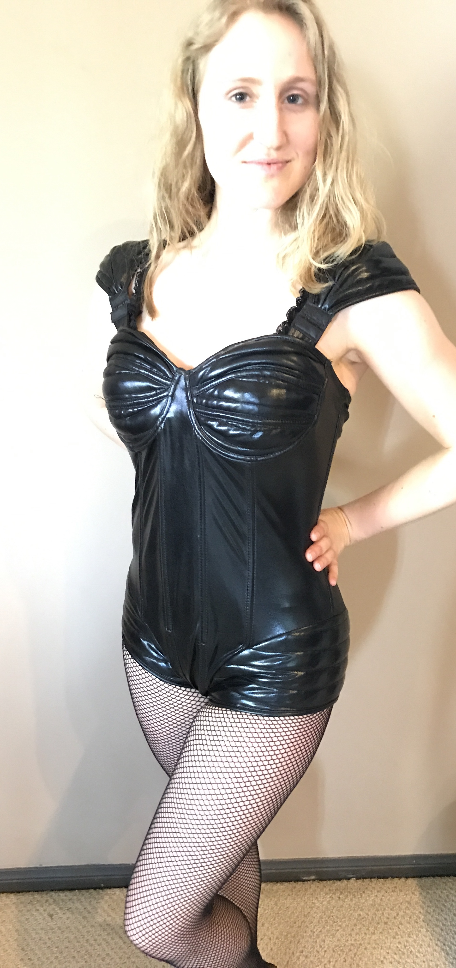 8) Pleather One Piece