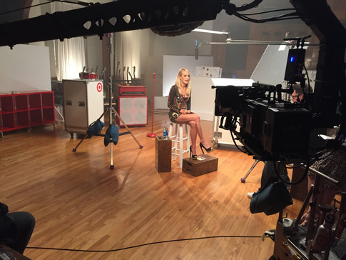Target Live Recordings wit Carrie Underwod Set Photo