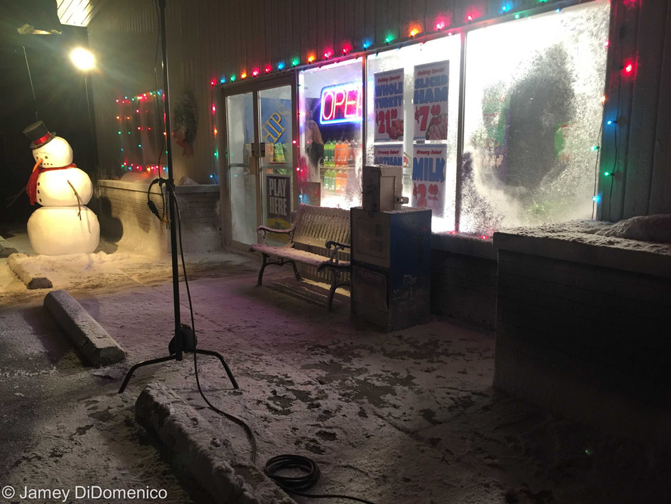 TN Lottery - The Snowman Commercial - Set Photo