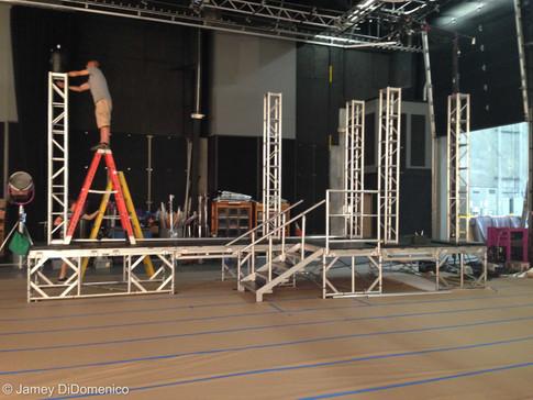 Zaxby's Commercial - Thomas Rhett and Brett Eldredge - Set Photo