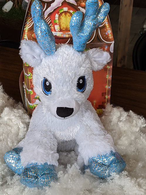Blue & White Sparkle Reindeer