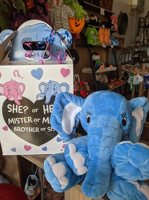 Surprise Gender Reveal - Blue Elephant