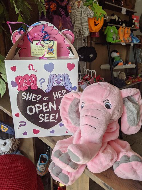 Surprise Gender Reveal - Pink Elephant