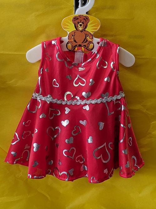 Silver Heart Red Dress