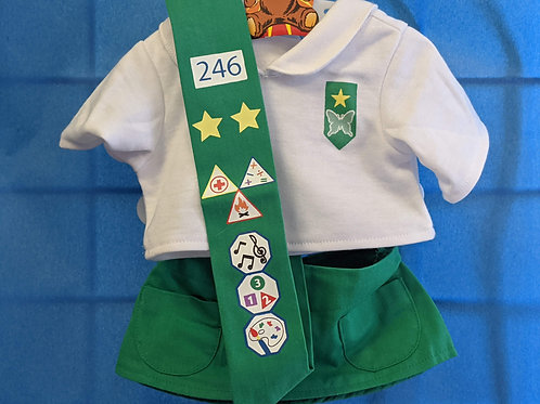 Girl Scout Outfit Green & White