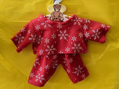 Red & White Snowflake PJ's