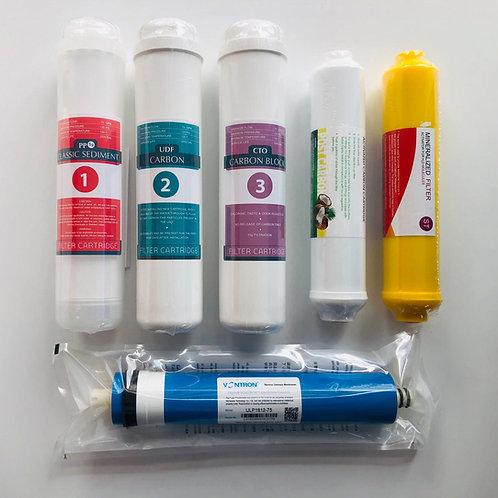 Su Arıtma Cihazı 6'lı Inline Filtre Seti (Vontron Membran)
