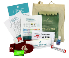 Product photo of the welcome bag.