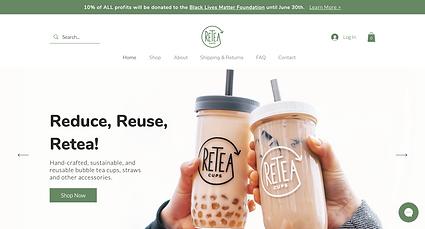 Retea Cups Desktop Website Screenshot