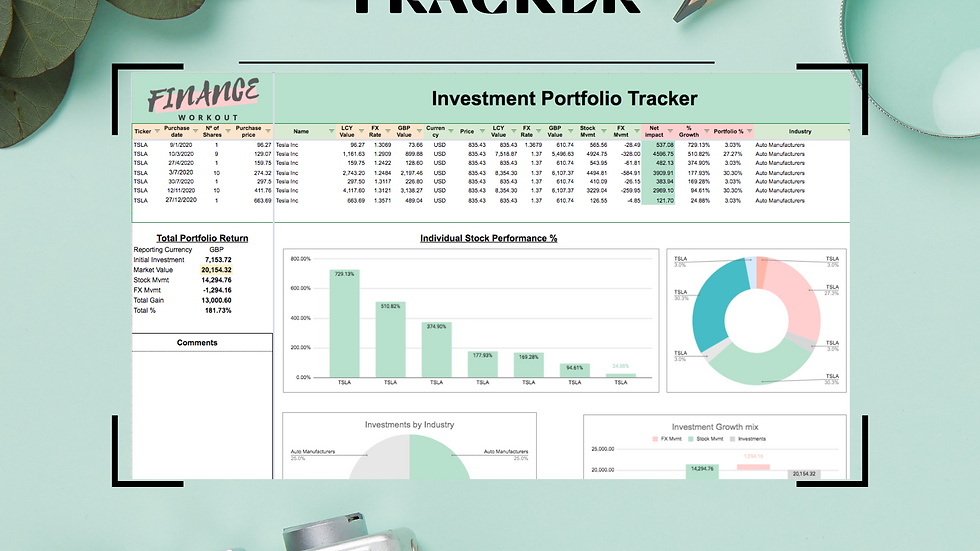 Stock Investments Tracker