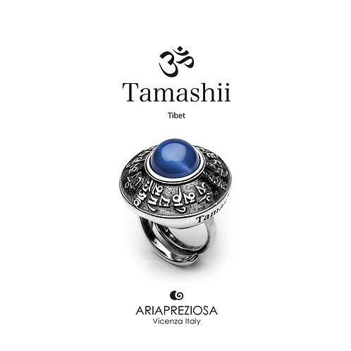 Anello Tamashii RIG ZVA Agata Blu  RHS904-18