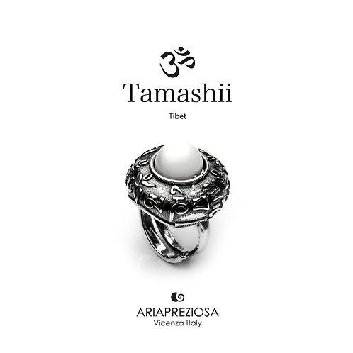 Anello Tamashii DVAGS ZVA Agata Bianca  RHS905-14