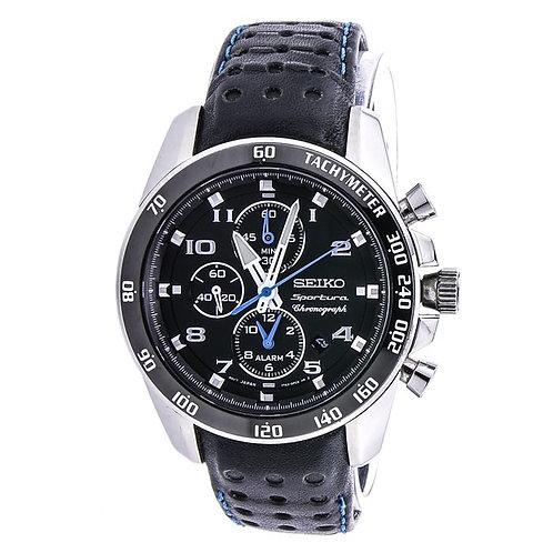 Seiko Sportura cronografo zaffiro orologio da uomo Chronograph SNAE79P1