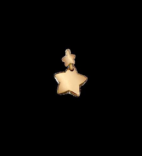 Ciondolo stella con contromaglia stellina.