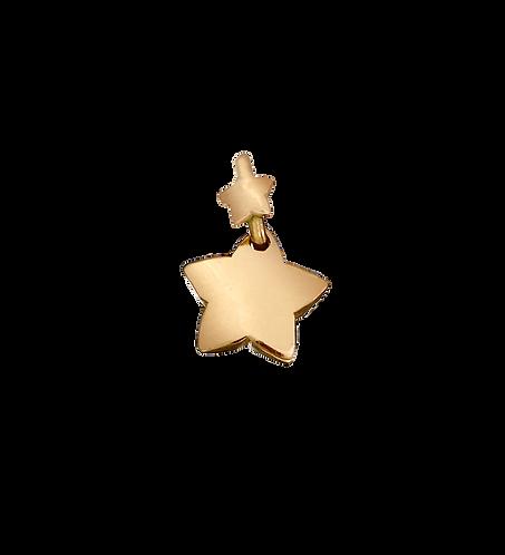 Ciondolo stella con contromaglia stellina o cuoricino.
