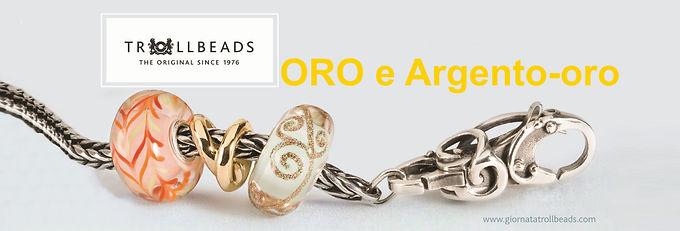 Trollbeads ORO, Arg/oro/gemme