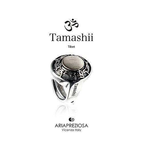 Anello Ovale Tamashii Ruota Preghiera in Argento  RHS924-S