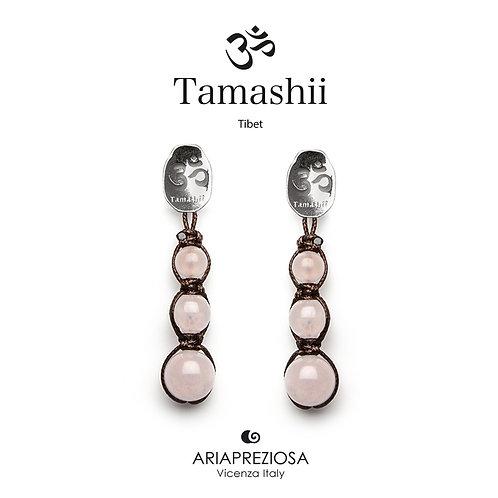 Orecchini Tamashii Argento con Quarzo Rosa  EHST3-33