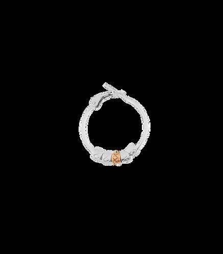 Orecchino singolo ad anello con elementi