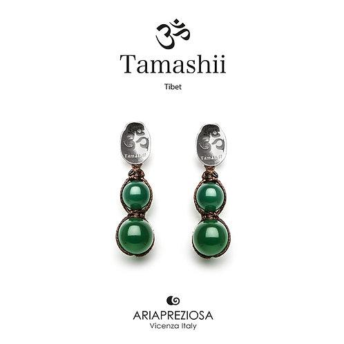 Orecchini Tamashii Argento con Agata Verde  EHST2-12
