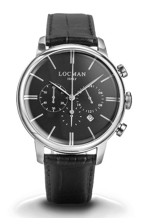 1960 Locman orologio cronografo uomo Locman , 0254A01A-00BKNKPK