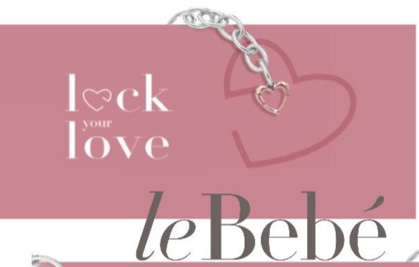 LEBEBE' LOCK YOUR LOVE ARGENTO E ORO