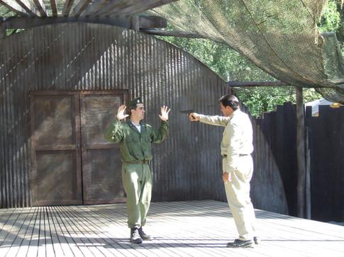 Othello threatens Iago
