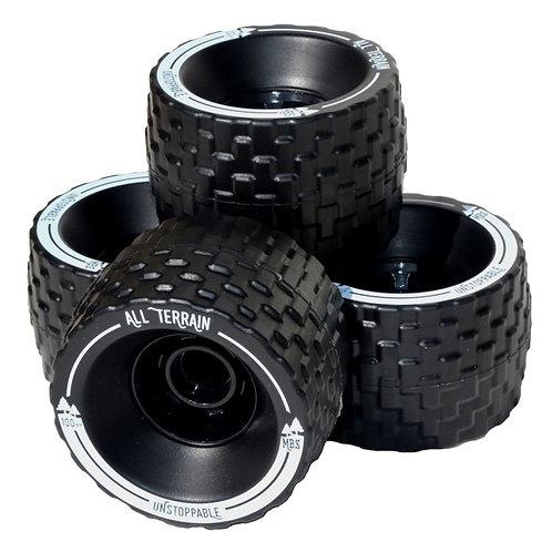MBS All-Terrain Skateboard Wheels (4 Wheels)