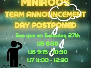MINIROOS Team Announcements