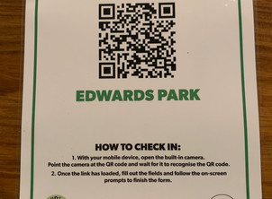 Checking in @ Edwards Park - new COVID19 requirements
