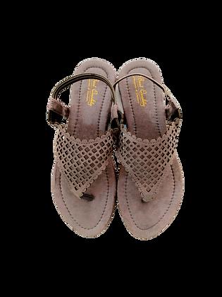 Velvet Sandals Flat