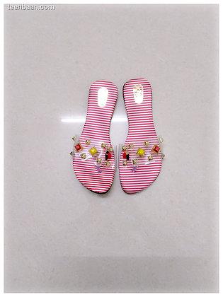 Girls'Open Toe Flats