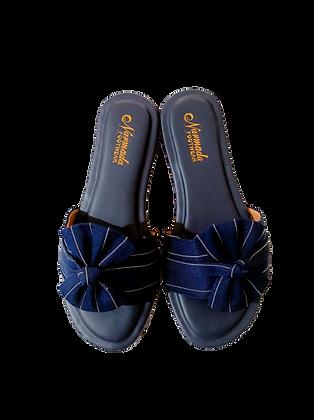 Tie Open Toe Flat(Full Color)