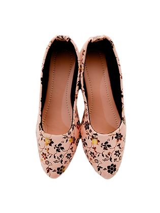 Gold Flower Cute Shoe