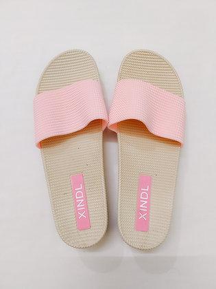 Open toe flat pink 1.5 inch heel