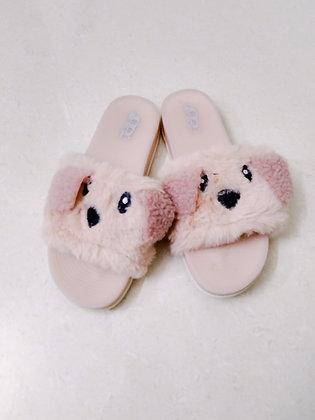 Fur Pet Dog Open Toe Flat