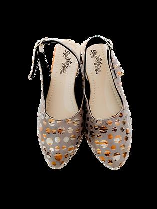 Dot Silver Shoe Sandals