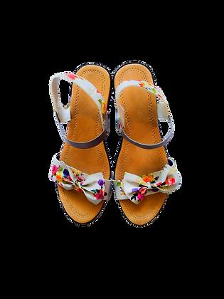 Heels Sandals Bow Tie