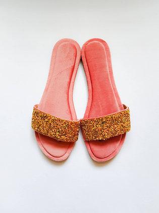 Velvet Glittering Open toe