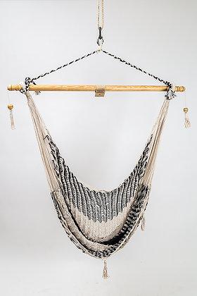 Hamaca Silla Blanco y Negro Algodón / Black and White Hummock Chair Cotton