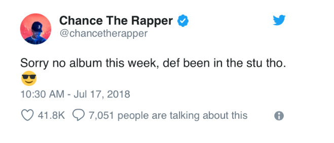 Chance The Rapper Twitter