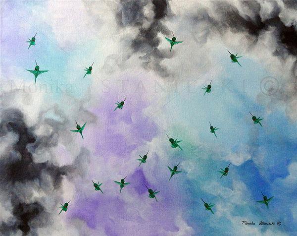HUMMINGBIRD FLIGHT - DOUBLE WATERMARKED