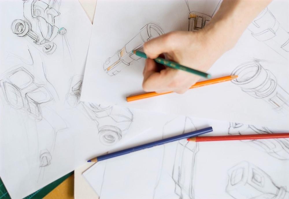 Creative process  design sketching product concept development